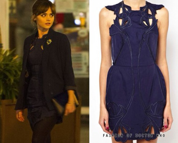 cut-out dress blue dress little black dress dr who clara doctor who