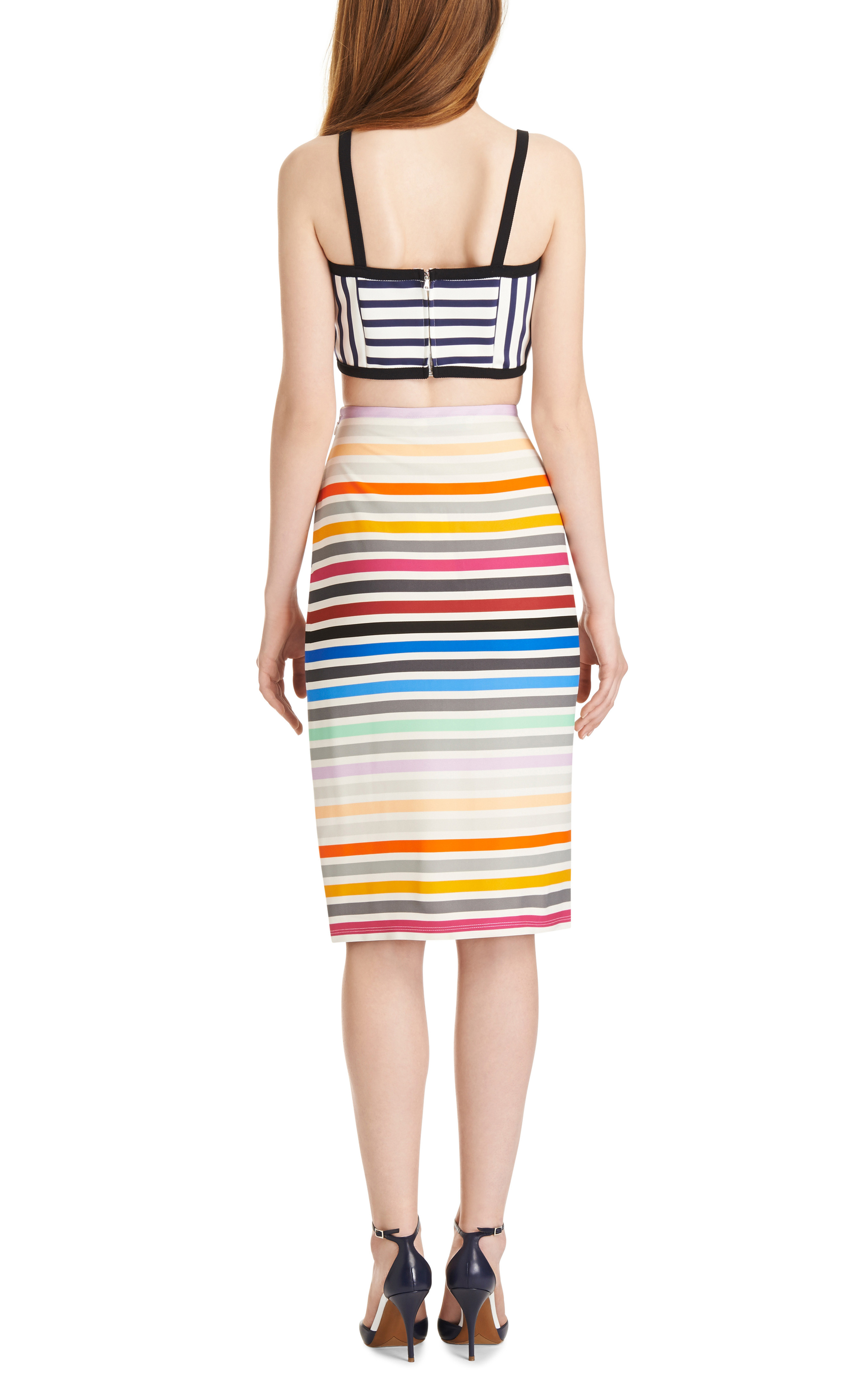 Peggy Striped Crepe-Jersey Pencil Skirt by Tanya Taylor - Moda Operandi