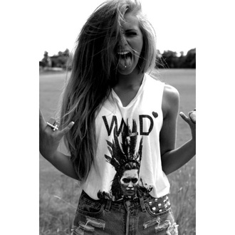 t-shirt wild indian girl