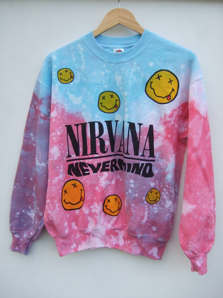 Tappington and wish — tie dye nirvana sweater