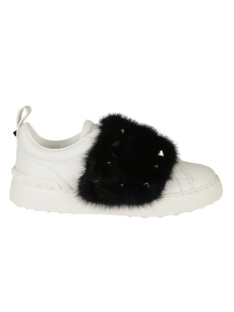 Valentino Garavani fur sneakers fur sneakers white shoes