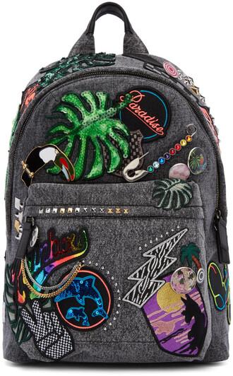 denim backpack grey bag