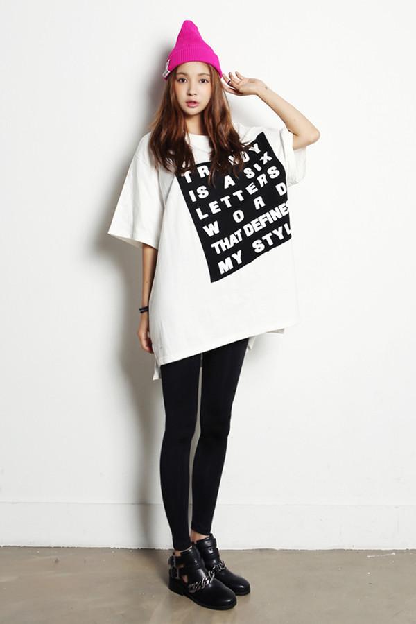 t-shirt women tshirts korean style korean fashion quote on it shirt