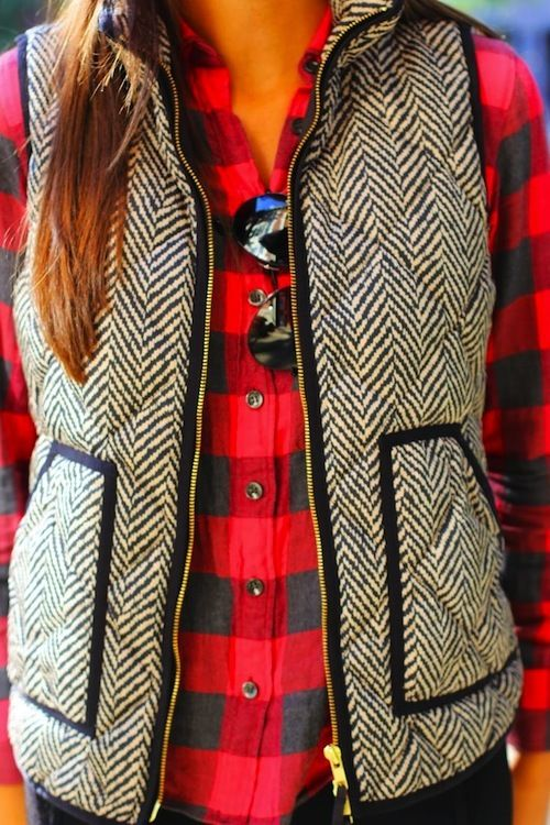 J.Crew Excursion Quilted Puffer Vest in Herringbone Size:XXS XS ...