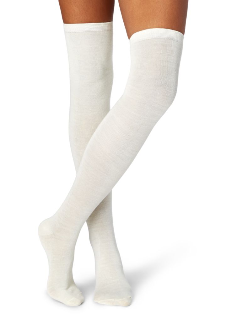 Solid over the knee socks~0143