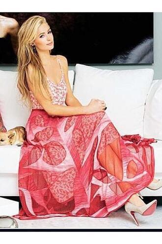 dress gown paris hilton pumps editorial