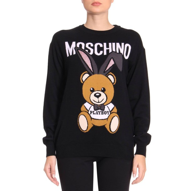 Moschino sweater women couture black