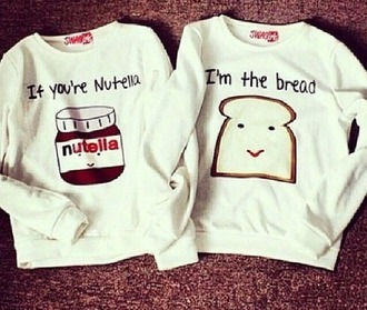 sweater bff love best friends forever best friends clothes nuttella bread food cool