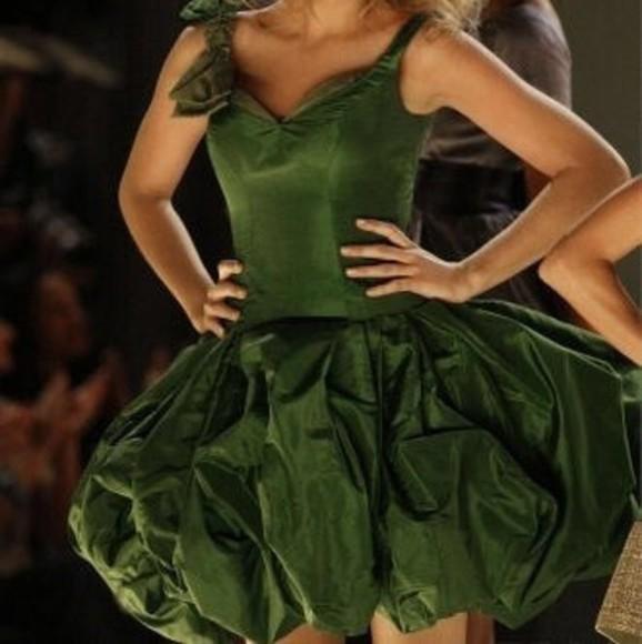 gossip girl serena van der woodsen blake lively green dress fashion amazing