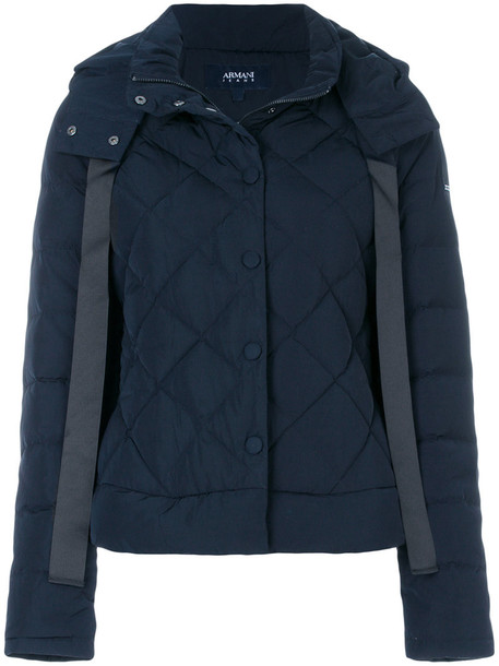 jacket puffer jacket women blue