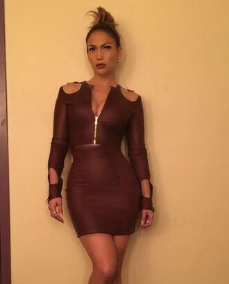 dress zip bodycon dress burgundy jennifer lopez instagram