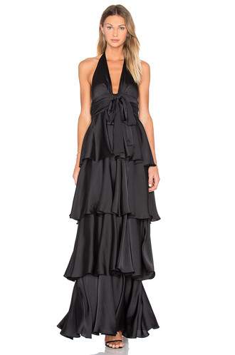 gown layered black dress