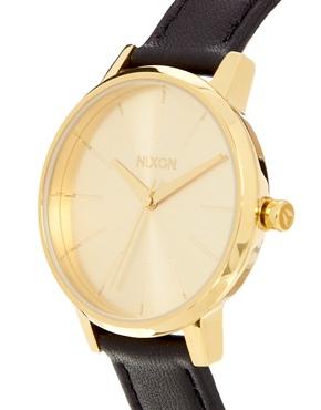 Nixon | Reloj de cuero negro Kensington de Nixon en ASOS