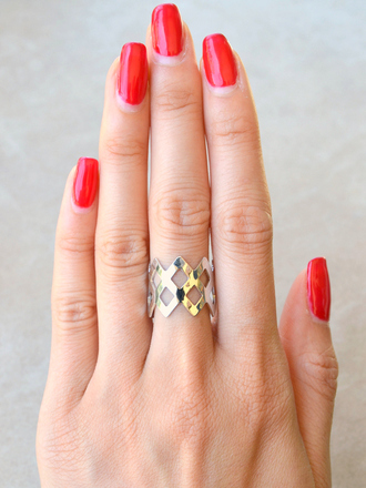 jewels ring silver silver ring crown crown ring geometric geometric ring