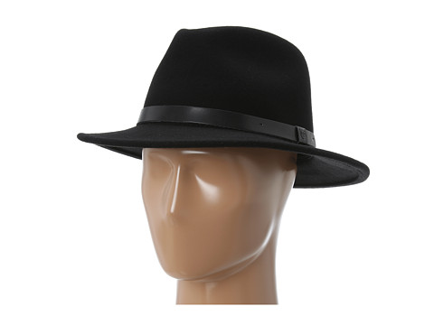 Brixton Messer Fedora Black/Black - Zappos.com Free Shipping BOTH Ways