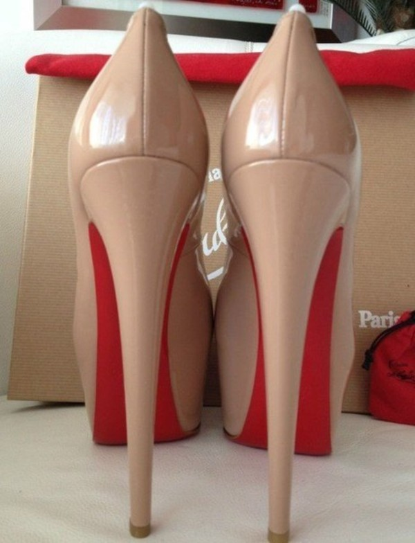 shoes undefined pumps high heels red heels nude nude high heels