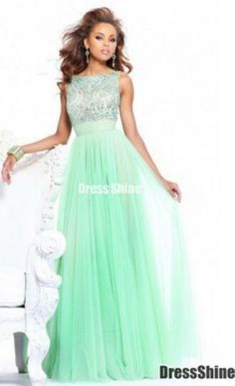 dress prom dress prom prom gown prom promdress  dress long prom dress sequin prom dress bedazzled long dress mint