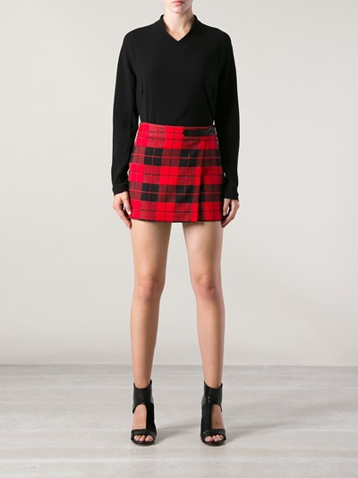 Alice olivia Tartan Skirt - Andrea Morando - Farfetch.com