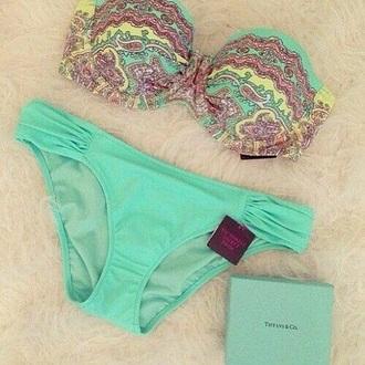 swimwear blue swimwear tiffany and co