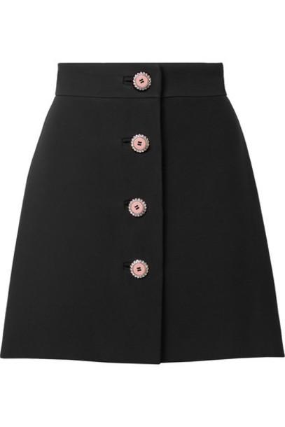 Miu Miu skirt mini skirt mini embellished black
