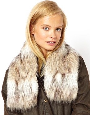 ASOS | ASOS Faux Fur Short Collar at ASOS