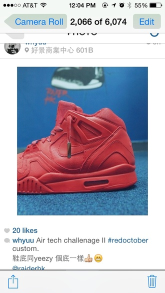 shoes nike air force air tech nike sneakers nike red red shoes yeezus