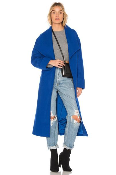 Lovers + Friends coat blue