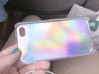 holographic phone cover iphone case rainbow bag belt t-shirt iphone 5 case iphone cover pretty jewels metallic