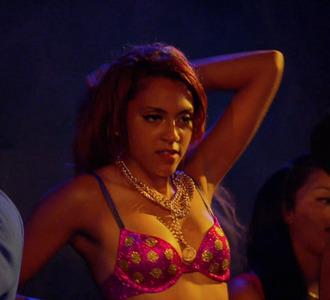 underwear bra pink gold polka dots necklace jewelry bgc bad girls club bad girls all star battle bgc10 nancy denise bgasb bgasb2 jewels