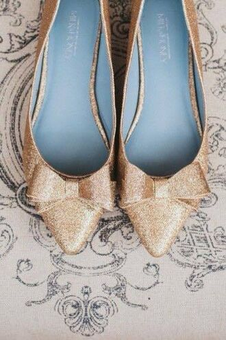 shoes sparkle gold glitter bow flats bows ballet flats shoes with bows gold shoes