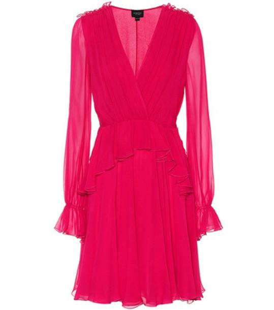 Giambattista Valli Ruffled silk dress in pink