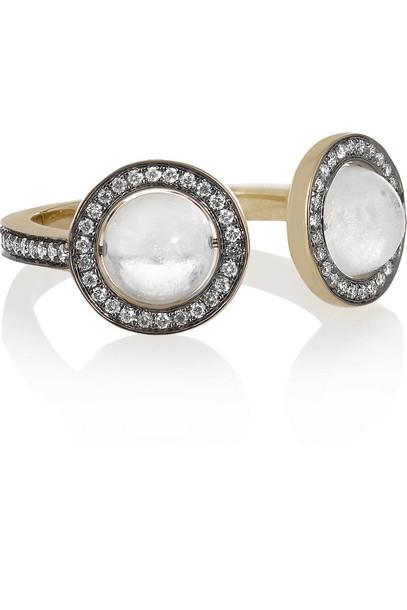 Noor Fares Krystallos 18-Karat Gold Multi-Stone Ring