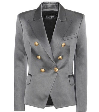 blazer cotton grey jacket