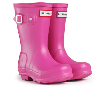 Hunter Original Kids Wellington Boots - Fuchsia | Free UK Delivery