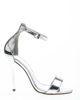 Fashionable heeled sandals with a contrasting heel - buy online at have2have