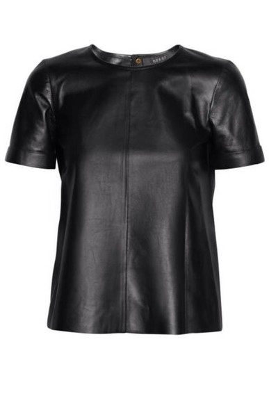 leather t-shirt shirt t-shirt leather shirt faux leather shirt black blouse
