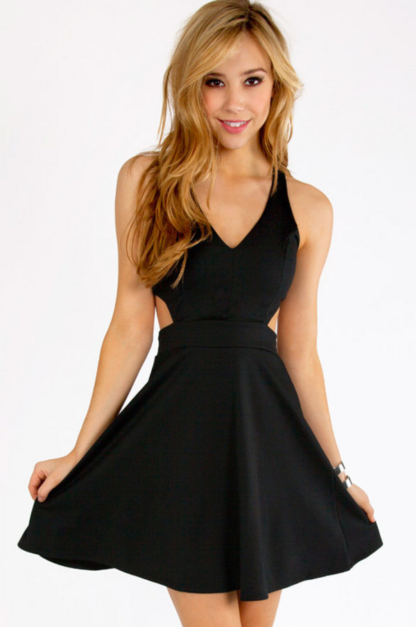 dress little black dress skater dress black