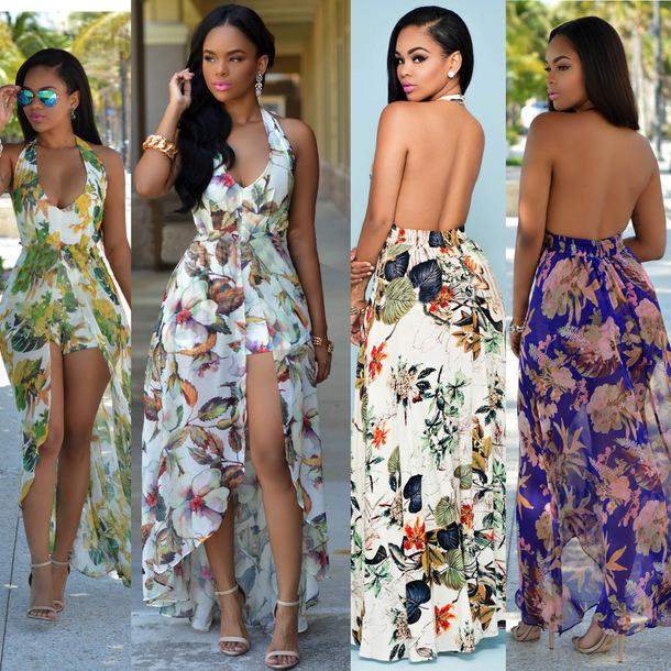 d25852f27276 dress women boho dress beach romper sundress summer beach romper purple  romper dress white floral romper