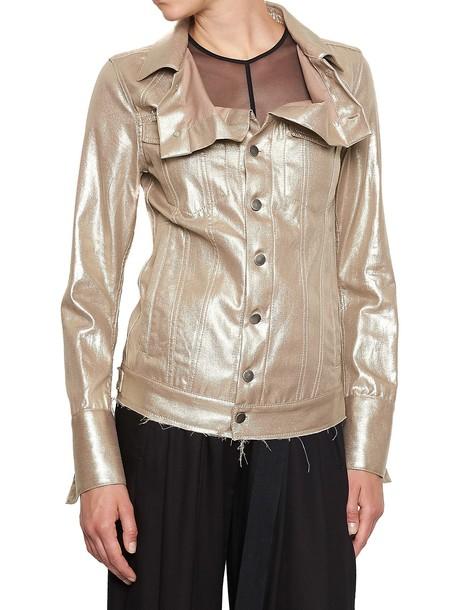 ANN DEMEULEMEESTER jacket gold