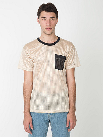 Athletic Contrast Pocket Tee | American Apparel
