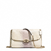madison pinnacle chain crossbody in python embossed leather