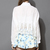 White Embroidered Crop Top with Crochet Hem - Retro, Indie and Unique Fashion