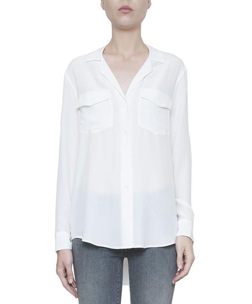 Equipment shirt silk top