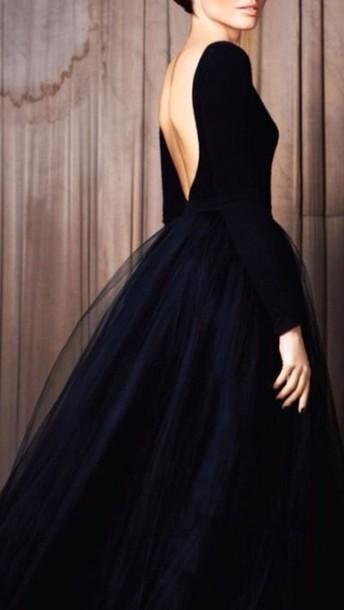 dress black prom dress prom dress gown