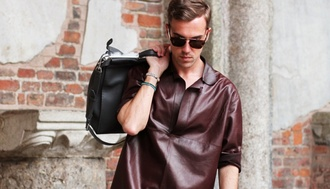the three f menswear blogger shirt bag shoes jewels sunglasses