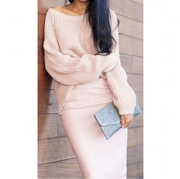 pastel skirt dress pullover top pink dress