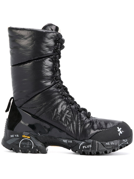 Premiata women leather black shoes