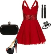 dress,red,sparkle,homecoming,crossback,cross back