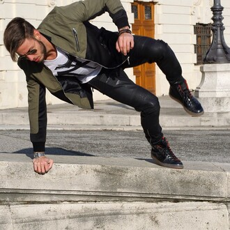 jacket maniere de voir khaki neoprene bomber jacket