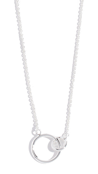 Gorjana Wilshire Charm Adjustable Necklace in silver